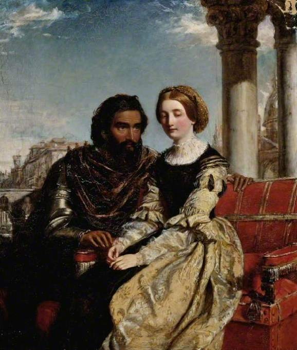Frith, William Powell, 1819-1909; Othello and Desdemona